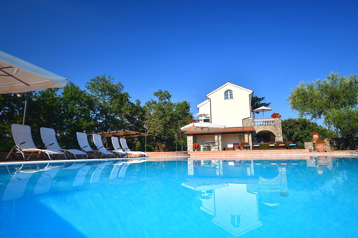 Affitto villa con piscina Cilento tra Palinuro e Maratea